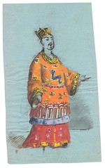 """Kinesisk"" kostume (Rigsarkivet - Danish National Archives) Tags: costumes drawing theatre aquarel teater kostumer kostumetegninger"