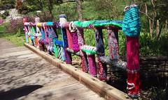 0426161232l (C_K_L) Tags: morrisarboretum crochet publicart yarnbombing fiberart yarn cameraphone