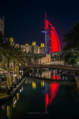 Burj Al Arab  - Dubai (go-Foto) Tags: dubai burj al arab night reflection