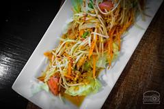 Papaya Salad - green papaya, tomatoes, string beans, and roasted peanuts mixed with spicy lime dressing - Ta Khrai Thai Cafe (sheryip) Tags: food foodporn morgantown wv wvu ta khrai thai cafe sher yip papaya salad