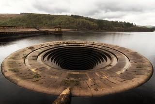 Ladybower Reservoir overflow