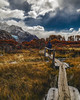 Pathway (Valter Patrial) Tags: hill mountain range landscape valley peak rural scene ridge rolling hilltop hiking nonurban mountains snowcapped alpenglow scenic scenery trees autumn clouds colors land patagonia el chaltén montanha rio paisagem água árvore
