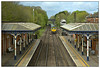 Stilton, Sheds and Pies (david.hayes77) Tags: meltonmowbray leicestershire eastmidlands 2018 class66 shed freightliner 66623 cargo freight tsbg signalbox semaphores limestone 6l67 victoriana meltonstation spring