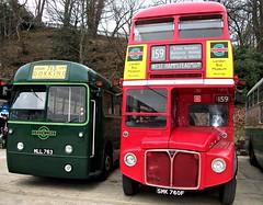London transport RF226 and RML2760 Brooklands 15/04/18. (Ledlon89) Tags: bus buses london lt lte transport londontransport aec leyland londonbus londonbuses vintagebuses brooklands weybridge londonbusmuseum