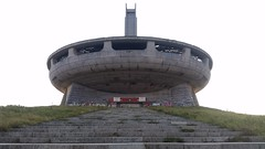 Old Soviet Structure (stafford.tyrrell) Tags: old soviet building abandonded derilicted mountains art communisim monument ufo derelictbuildings