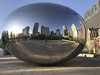 Tuesday Morning (Flipped Out) Tags: chicago illinois unitedstates us millennium park millenniumpark cloudgate thebean