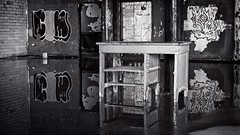 Abandoned Buffalo (Edward Bartel) Tags: buffalo ny buffalove decay wabisabi silocity urbex hdr hdrphotography reflection monochrome on1photos on1pics m43ftw grafitti abandoned usa