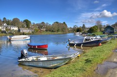 Small boats at Lerryn, Cornwall (Baz Richardson (now away until 20 July)) Tags: cornwall lerryn riverlerryn smallboats villages rivers