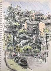 Late afternoon (Peter Rush - drawings) Tags: marrickville sydney nsw australia peterrush sketch drawing notebook pencils
