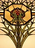 Evanston, IL, Halim Time and Glass Museum, Stained Glass Window, Detail (Mary Warren 10.7+ Million Views) Tags: evanstonil halilmtimeandglassmuseum art glass stainedglass nature flora plant bloom blossom flower yellow orange