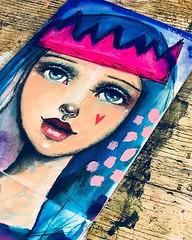 Queen. #Willowing #willowingarts #mixedmedia #mixedmediaart #artistsofinstagram #tamaralaporte #art