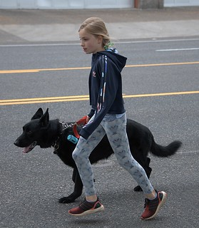 Running With Her Dog