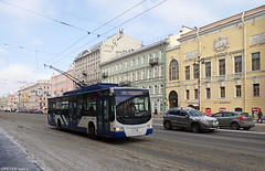 Nevsky Prospekt (peterphotographic) Tags: olympus ©peterhall stpetersburg saintpetersburg russia росси́я санктпетербу́рг p3210178edwm tough tg5 nevskyprospekt street streetphotography road traffic bus tram trolley trolleybus snow slush ice freeze frozen cold winter commercial
