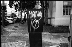 Van Ness (icki) Tags: ca california february2018 sanfrancisco blackandwhite graffiti nopeople street