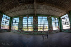 Solitary View (4 Pete Seek) Tags: lindalegeorgia lindalemill lindale industrial abandonedindustrial decayed neglected urbanexploration abandoned abandonedproperty abandonedmanufacturing decayedindustrial decayedmanufacturing fisheye rokinon8mmfisheye