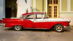 CUBA Trinidad VI (stega60) Tags: cuba trinidad coche oldtimer rojo red calle street luz light hdr stega60