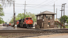 West Chicago Crossing (string_bass_dave) Tags: il illinois trains locomotive crossing train westchicago cn railway unitedstates tower flickr railroad