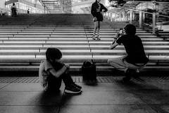 20180501 Urban (soyokazeojisan) Tags: japan osaka bw people light city blackandwhite night street monochrome digital olympus em1markⅱ 918mm 2018
