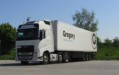 GJ67 RXL at Gledrid services (Joshhowells27) Tags: lorry truck volvo fh gregory refrigerated