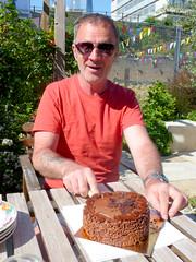 Happy Birthday Terry McGuire (buckaroo kid) Tags: london uk styleshouse birthday garden cake terry