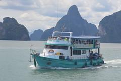 Ferry on Phang Nga Bay, Thailand (Urban and Nature OZ) Tags: ferry thailand boat ships phangngabay bays islands andamansea andman phuket