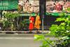 Monks - Bangkok, Thailand (ph.pigozzi) Tags: monks monk thailand asia indochina bangkok asiantrip exploringtheworld travel traveling asianculture street bangkokstreet
