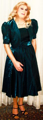 petrol ballgown (Martina H.) Tags: woman girl petrol ball party cocktail gown dress blonde elegant evening satin