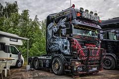 SCANIA BLACK BASTARD MAIK TERPE (Peter's HDR-Studio) Tags: petershdrstudio hdr scania truck showtruck lkw zugmaschine