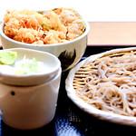 Morisoba and Kakiage bowl : もりそばとかき揚げ丼 thumbnail
