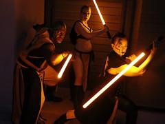 Huffle-Sith Trio (greyloch) Tags: dragoncon costumes cosplay mashup 2017 canonrebeltt6 niksoftware starwars sith harrypotter hufflepuff
