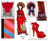 Red (Kurokami) Tags: kimono japan japanese asia asian woman women girl girls lady ladies traditional kitsuke anime north 2018 fashion show every colour rainbow red meiji period era furisode asanoha obi high heels head dress bead beaded skirt