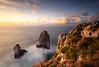 PALO VERDE PALO CHICO (JUAN GALLART) Tags: españa asturias ribadesella llanes sunset landscape rocas sol oceano cantabrico acantilados infierno nikon d750