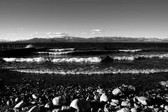 Wind and water and stone - Viento, agua, piedra. (Andrés Luis Muñoz) Tags: lake nahuelhuapi argentina latinamerica latinoamerica lago agua olas waves nikon d5300 sigma1750 blackandwhite bw