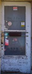 A Doorway To The Past (pam's pics-) Tags: ks kansas us usa america midwest smalltown pamspics pammorris mankatokansas sonya6000 doorway empty door advertising glass abandoned