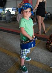 Kid at the New Orleans Jazz and Heritage Festival on Sunday, April 29, 2018