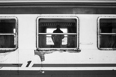 1 (Piero Riccardi) Tags: train italy italia travel viaggio viaggiare monochrome bw treno milano milan persone people street