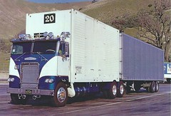 Freightliner: Container Exp #20 (PAcarhauler) Tags: freightliner coe cabover truck trailer tractor