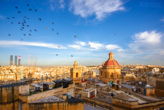 Birgu City (Christina Angquico) Tags: malta birgu stlawrencecathedral mediterranean pigeons sunrise nikon d600 1635mm christinaangquico