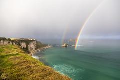 National Trust - Carrick-a-Rede, Ballycastle, Northern Ireland, UK (virt_) Tags: ballintoy northernireland unitedkingdom 2107 ireland november uk travel travels trip vacation weekend irelandtrip irelandtravel causewaycoastalroute rainbow double