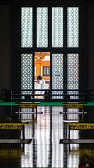Contemplation (tokyobogue) Tags: tokyo japan nikon nikond7100 d7100 zojoji zojojitemple temple buddhist tokina tokina100mmf28atxprod reflection reflections inside reading