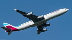 OO-SCX / Airbus A340-212 / Eurowings (PBe1958) Tags: lietadlo aircraft plane aeroplane aero airplane airliner airbus a340212 a342 vie loww wien vienna schwechat ewg eurowings
