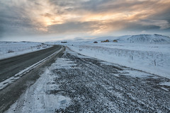 Along the Ring Road (B.E.K. Photography) Tags: iceland morning light sunrise ring road west sky clouds snow ice winter blizzard mountain field gravel outdoor landscape house home longexposure fence nikond850 nikon247028 farm