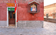 sacred and profane (poludziber1) Tags: street streetphotography skyline city colorful cityscape color red architecture building venezia venice italia italy urban travel