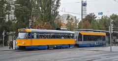 Leipzig, Willy-Brandt-Platz 06.10.2016 (The STB) Tags: tram tramway strassenbahn strasenbahn publictransport citytransport öpnv germany deutschland tatrawagen