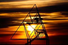 Tetrahedron (uwe1904) Tags: bottrop deutschland halde industrie industriekultur kokerei landschaft pentaxk1 pottleuchten prosper ruhrpott sonnenuntergang stadtlandschaft uwerudowitz nrw d
