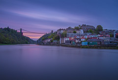 Waiting for that perfect moment (Wizard CG) Tags: long exposure landscape epl7 england architecture ed bristol ngc world trekker micro four thirds 43 m43 olympus mzuiko digital tourist attraction outdoor bridge clifton suspension longexposure sunset skyline river water nd filter sky
