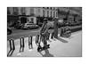 Parisienne [mobility variation] (Istvan Penzes) Tags: leicammonochromtyp246 penzes manualfocus rangefinder availablelight handheld bw black white paris france leicasummicron35mmv1 street parisienne holiday