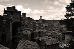 Sorano - Italy (Biagio ( Ricordi )) Tags: sorano toscana italy borgo medievale paesaggio architettura castello seppia nuvole