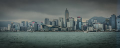 Panoramic view of Hong Kong Island Skyline with Victoria Harbour Hong Kong (mbell1975) Tags: hongkong kowloon hk panoramic view hong kong island skyline with victoria harbour hkg sra china harbor water sea pano vista panorama city office buildings skyscaper skyscrapers convention centre center world cloudy overcast clouds 香港