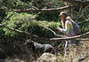 La belle exploratrice (nicoleforget) Tags: jardin femme chien arbres